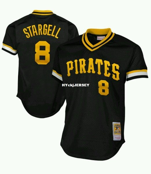 Cheap NEW MITCHELL & NESS PITTSBURG 1982 #8 Willie Stargell BATTING PRACTICE MESH JERSEY Throwbacks Mens stitched baseball jerseys