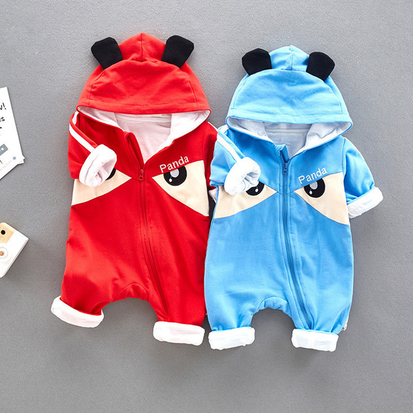good quality Cute Panda Quality Natural Cotton Fabric Baby Boys Girls Rompers Toddler's Outwear Children's Clothing Clothes