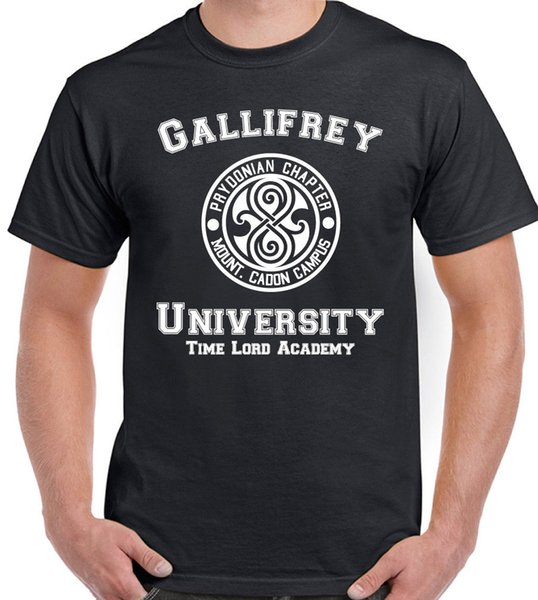 Gallifrey University Mens Funny Dr Who inspiró camiseta Divertido envío gratis Unisex Casual