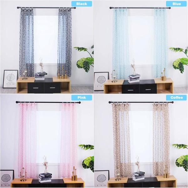 Chambre à coucher Salon Semi-ombrage Rideau Crochet de type S Fenêtre Séparateur de porte Fenêtre Drapé Type de crochet Type Irrégulier Géométrie Style