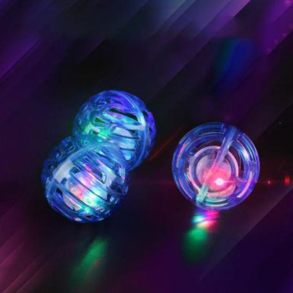 3 pcs cat toys interactive kitten exercise luminous playing toy plastic ball with bell for cats gatos productos para mascotas