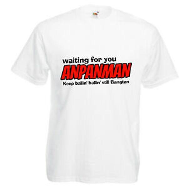 Esperando por ti Anpanman Camiseta impresa BTS Bangtan KPOP Letras