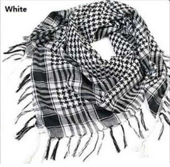 Fashion Unisex Women Men Checkered Arab Grid Neck Keffiyeh Palestine Scarf Wrap Polyester Scarf Shawl For Men Hot Sale!