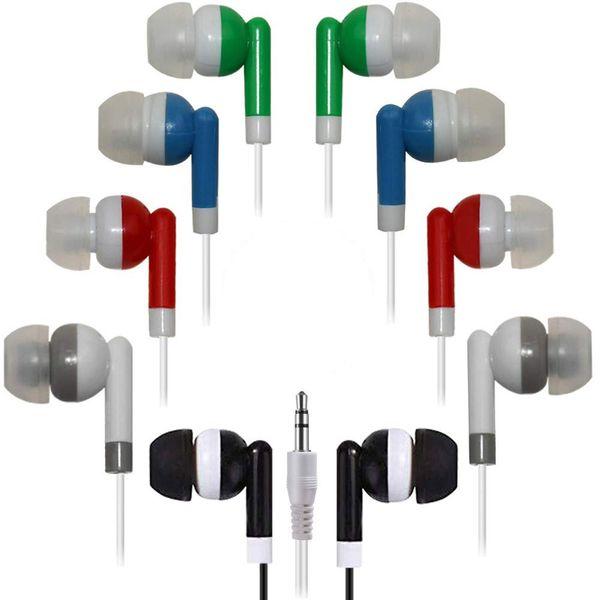 Toplu Kulakiçi Kulaklıklar Toptan Kulaklık, 100 Paket Tek Kullanımlık Kulak Tomurcukları Toplu Bireysel Sarılmış Kulaklıklar için Sınıf