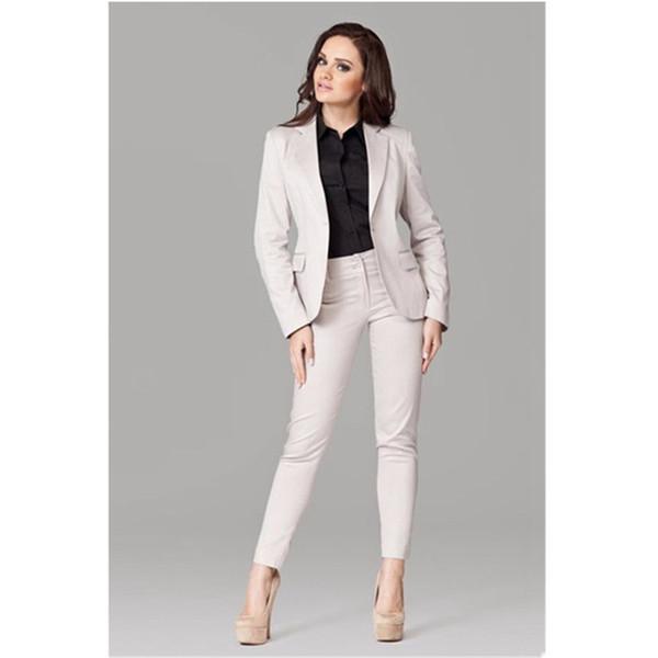 Customized casual single buckle solid color ladies suit two-piece suit (jacket + pants) ladies business office formal suit dress