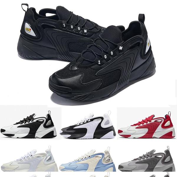 Acheter Bonne Sneaker M2k Tekno Zoom 2K 2000 Hommes Lifestyle Chaussures De Course En Plein Air Noir Blanc Bleu Orange Chaussures De Sport Grandeur &