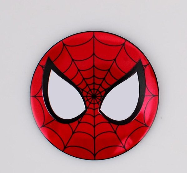 Spiderman 56.5mm Aluminum alloy Sticker emblem badge Superman Batman Fit for mercedes AMG Tree Car Wheel centre cover