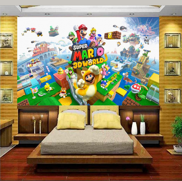 custom size 3d photo wallpaper livingroom bed room mural kids room cartoon character 3d picture sofa TV backdrop wallpaper non-woven sticker