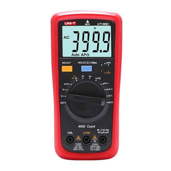 UNI-T UT136B+ UT136C+ Digital Multimeter AC DC volt current meter;Ohm Capacitance hFE Diode/transistor tester with LCD backlight