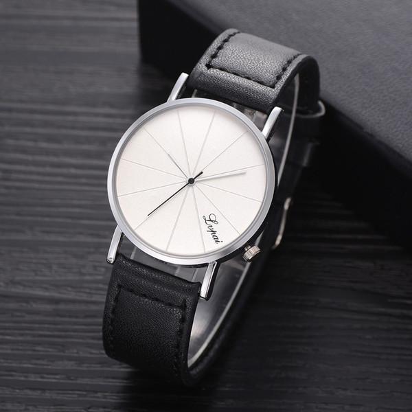 Compre LVPAI Correa De Cuero De Los Hombres De Moda Analógico Deportivo De Cuarzo Reloj De Pulsera Para Hombre Relojes De Primeras Marcas De Lujo