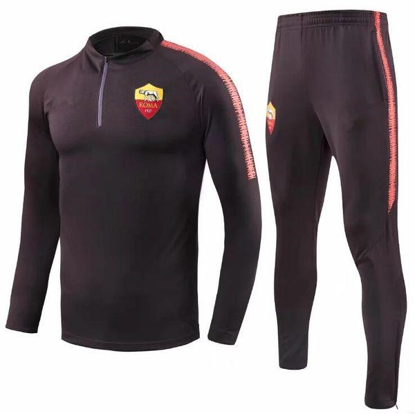 Roma jacket tracksuit Survetement Chaqueta de fútebol 2018 2019 Monaco TOTTI ROSSI DZIKO football sportswear Training suit