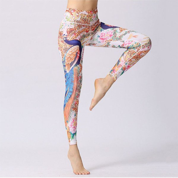 b5d570626addde New Printed Yoga Leggings Light weight Highly Elastic Flexible Fabric Yoga  Pants for Active wear Yoga Practice Clothing Casual Wear