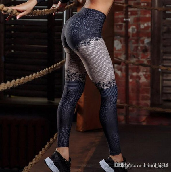 Pantaloni da yoga per donna Pantaloni da donna con stampa digitale Pantaloni da donna con stampa digitale