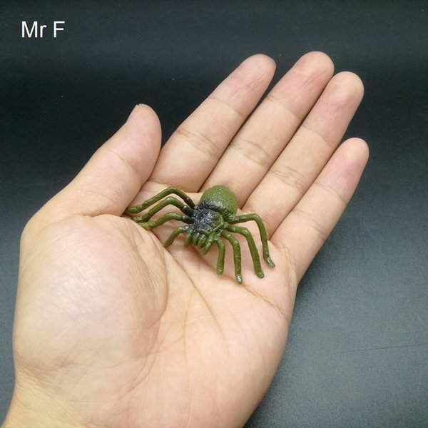 Kid Gift Brown Spider Insert Gags Toys Science Animals Nature Model Game Small