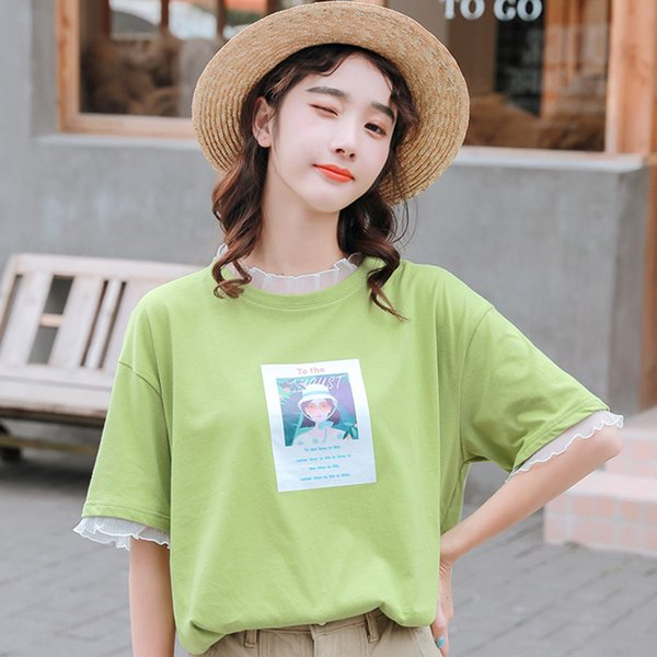 "Twenty-two 2 pieces 59 Yuan ""short sleeve T-shirt female 2019 Summer dress new Korean version loose cotton student Top hundred t-shirt"