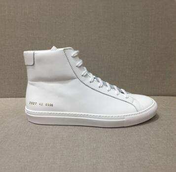 Designer ankle boots Common Projects Genuine Leather Chelse boot kanye west shoes women men flat winter boots casual Fashion designer a6