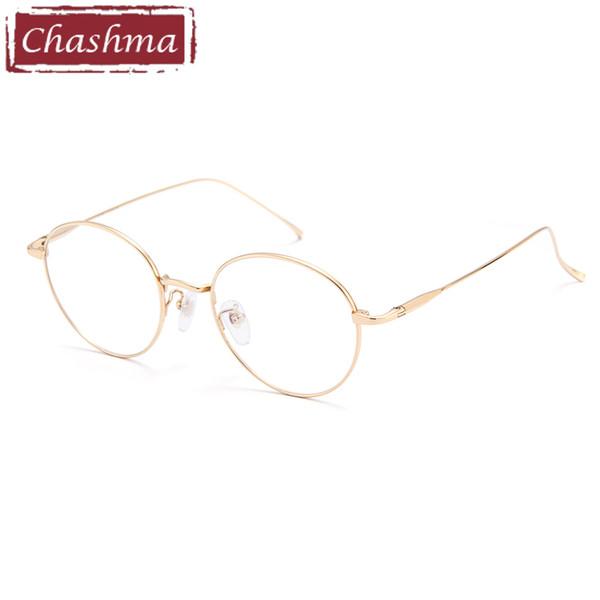 08c6aac58b Chashma Titanium Round Vintage Gafas Mujer Gafas de Montura Óptica Retro  Gafas de Moda de Estudiante