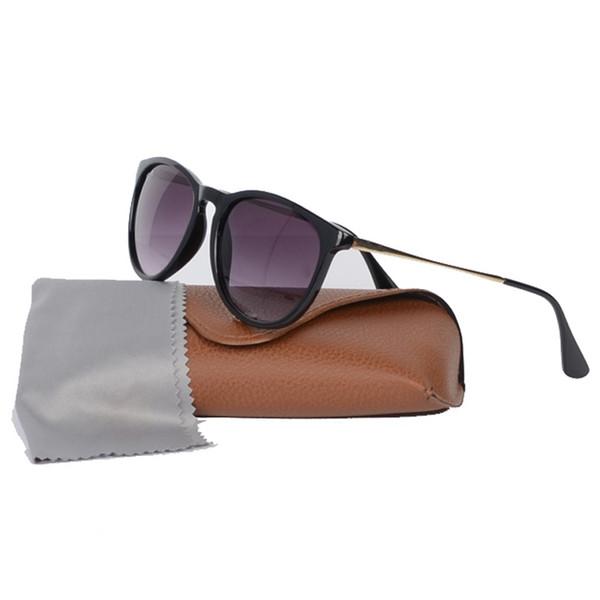Occhiali da sole di alta qualità per uomo Donna Occhiali da sole Erika Retro Vintage Metal Frame Designer Occhiali da sole UV400 Lenti Scatola e custodia