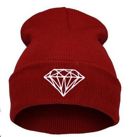 Vente chaude Diamant Street Dance Hat Hip-Hop laine tricotée bonnet d'hiver chaud