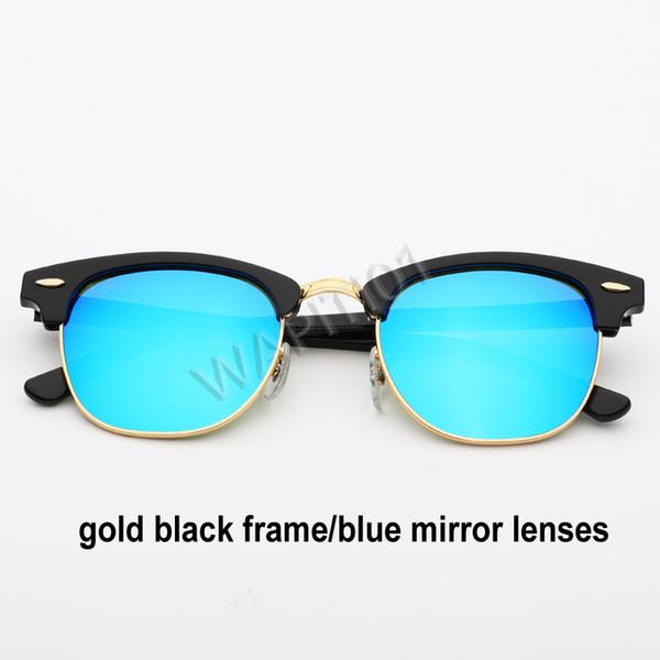 الذهب الأسود والأزرق مرآة