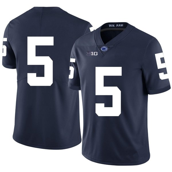 devyn ford stitched men's penn state nittany lions daniel george dj brown college football jersey white navy blue, Black
