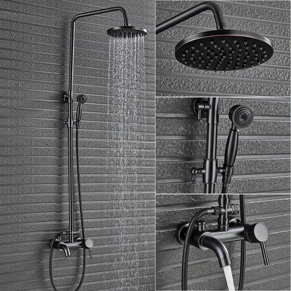 Einhebel-Wannen Dusche Komplett-Set-Hahn In-Wand 8