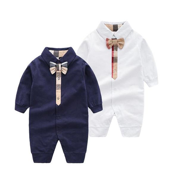 Printemps Bébé Garçon Fille Barboteuse Pyjamas 0-12 Mois Nouveau-Né À Manches Longues Jumpsuit Vêtements Mode Enfant En bas Âge Combinaison Enfants Vêtements