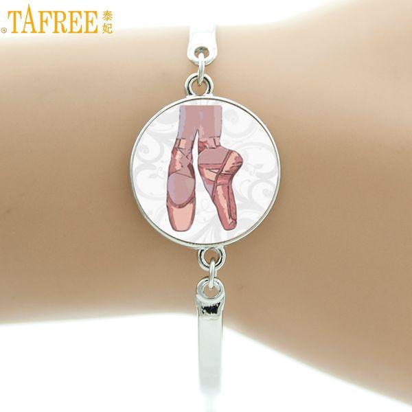 TAFREE vintage Ballerina bracelet women elegant ballet dance dancing glass art bracelets fashion dancer jewelry gifts NS131