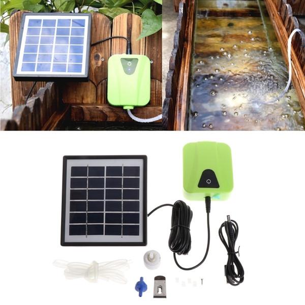 태양 전지 패널과 태양 전원 형산 공기 펌프 산소 통풍 물고기 탱크 수족관 에어 버블 산소 펌프 디퓨저
