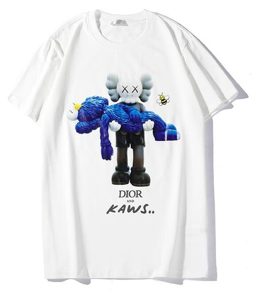 9102 nuovo tee bianco uomo donna bambola orso abbraccio giocattoli stampa t-shirt con strass manica corta O-Collo T-Shirt all'ingrosso S-XXL