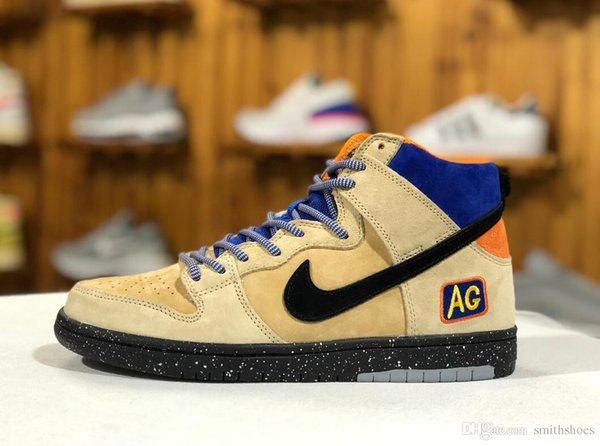 new concept 7309c 8180d SB X Humidity Dunk High Trumpet QS Metallic Gold Black Mens Women  Basketball Shoes What The NYC Doernbecher Champ Unkle Size36 45 Womens  Sandals ...