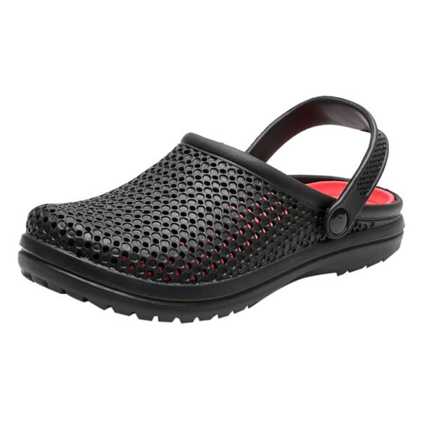 JAYCOSIN Adam Için Yaz Delik Ayakkabı Düz Sandalet Nefes Erkek Rahat Ayakkabılar Sıcak Satış Açık Kaymaz Plaj Terlik Çevirme