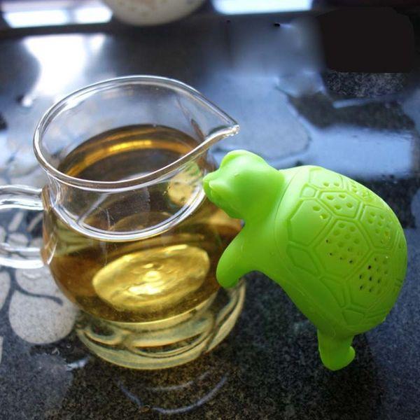 Nuovo infusore per tè Turtle Silicone per alimenti carino verde per tè per tartaruga Strainer creativo per te