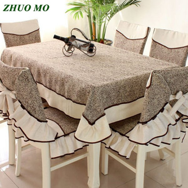 ZHUO MO 2019 Fashion Rectangular table cloth and chair covers dining for coffee table for home Decoration Covers
