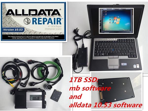 Riparazioni auto Software Alldata 10.53 e mb star c5 software 2019.07 in 1TB ssd interno funziona con lo strumento diagnostico sd star c5 D630