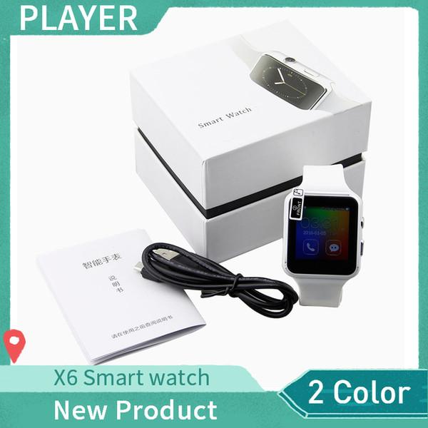 Smartwatch Écran Courbé X6 Bracelet de montre intelligente Téléphone avec fente pour carte SIM TF avec appareil photo pour Samsung Android smartwatch