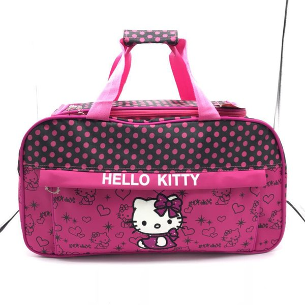 Cartoon Carry Kitty Travelling Bag Multifunctional Messenger Bag Large Capacity Baby Diaper Bags Shoulder Nappy Bags Mummy Tote Handbag