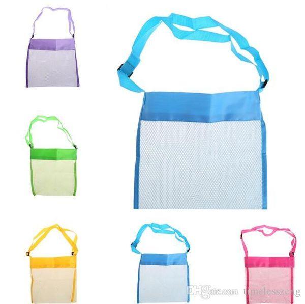 26*26cm Children beach mesh bag portable sand away mesh seashell shell bags toys receive storage bags sandboxes away cross body shoulder bag