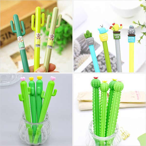 Cactus Gel Pens Green Plants Neutral Pen Cute Pens For School Office Writing Supplies Gifts Stationery Promotional