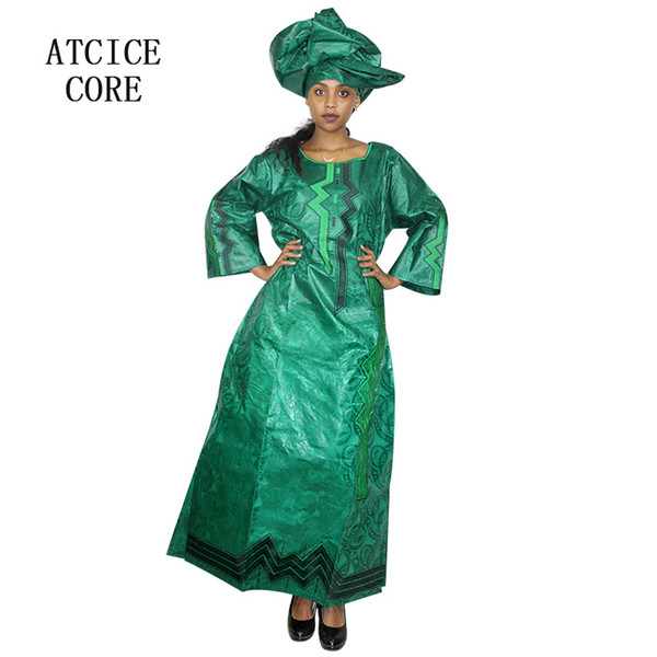 african dresses for women 2018 new fashion design dashiki traditional african basin riche embroidery design long dress