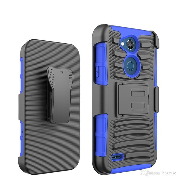 Dual Layer Hybrid Defender Kickstand Case for LG X Power 2 3 Venture/Calibur LV9 Charge LV7 Stylo 3 Cover with Belt Clip