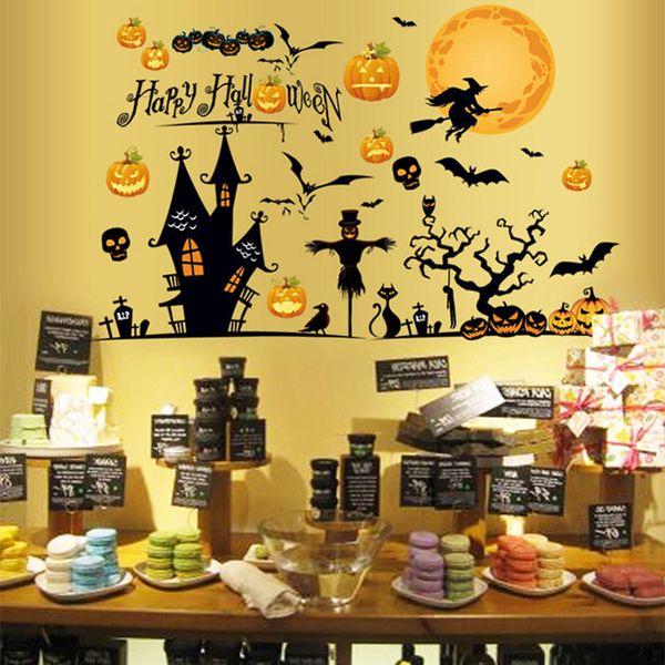 DIY halloween sticker mural décor pour la fête fournitures amovible Jack-O-Lantern Behemoth flamme immortelle oiseau sticker mural