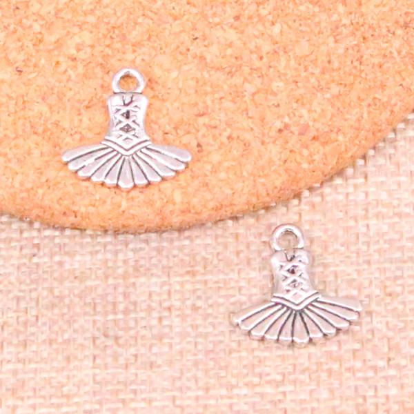 133 pcs encantos ballet ballet tutu dress antigo banhado a prata pingentes fit jóias fazendo descobertas acessórios 17 * 17mm