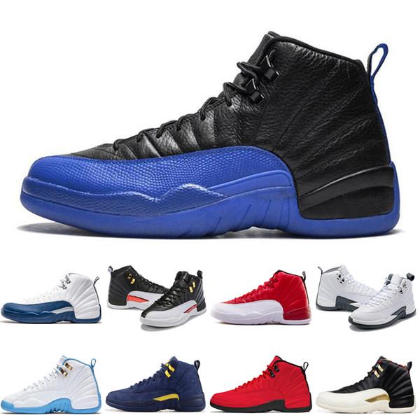 2019 Yüksek Kalite spor Ayakkabı 12 12 s Ters Taksi UNC kanatları TAKSI Gym Kırmızı erkekler Basketbol ayakkabıları Eğitmenler Sneakers boyutu ABD 7-13