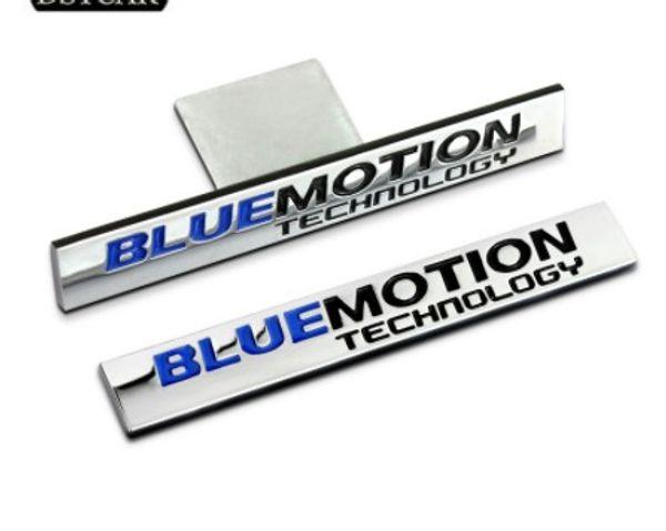1Pcs 3D Metal Blue Motion Car Side Fender Rear Trunk Emblem Badge Sticker Decals for VW Sagitar CC Sagitar Golf 6