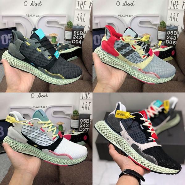 Nuevas zapatillas de deporte Consorcio ZX 4000 FutureCraft 4D para hombre BD7931 zx4000 2019 Designer Trainer Sports Sneakers con caja 39-45