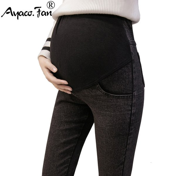 M-3XL Maternity Jeans for Pregnant Women Pregnant Pants Elastic Pregnancy Clothes Spring 2019 New Slim Maternity Pant Plus SizeMX190910