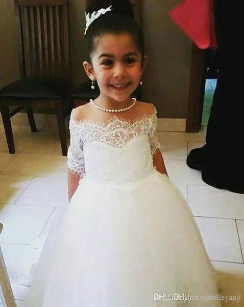 Flower Dress for Girl Wedding Children Communion Kids Dresses for Teenage Girls Ceremony Tutu Baby Clothing 4-10 Years Vestidos