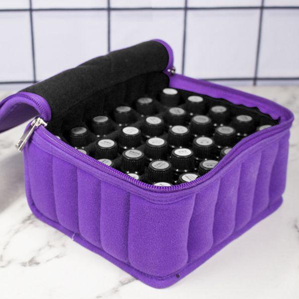 30 Bottles Essential Oils Bag Lattices Cosmetic Bag 15ml Oil Carrying Holder Portable Travel Storage Box Nail Polish Organizer