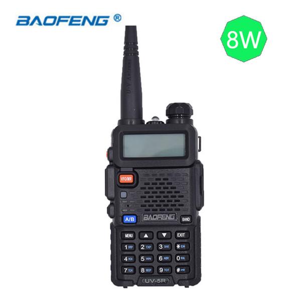 Baofeng UV-5R Talkie Walkie UV5R Station de radio CB 8W 10KM 128CH VHF UHF Double bande UV 5R Radio bidirectionnelle pour radios de chasse au jambon